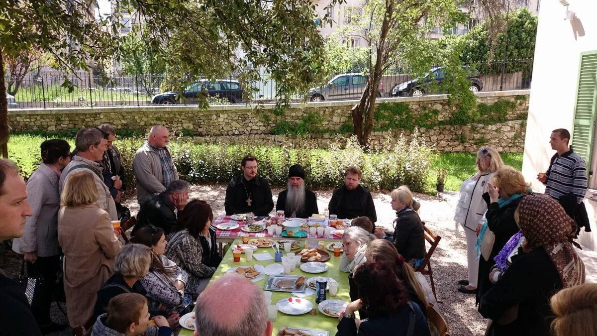 Епископ Мефодий пообщался с представителями русской диаспоры г. Ниццы (Франция)