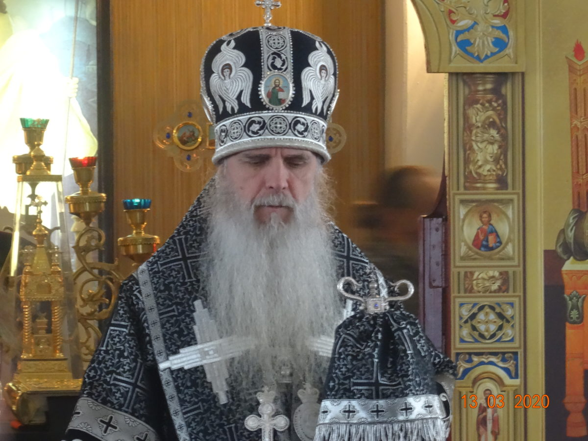 Владыка Мефодий возглавил Литургию Преждеосвященных Даров в Успенском храм пос. Белоярский