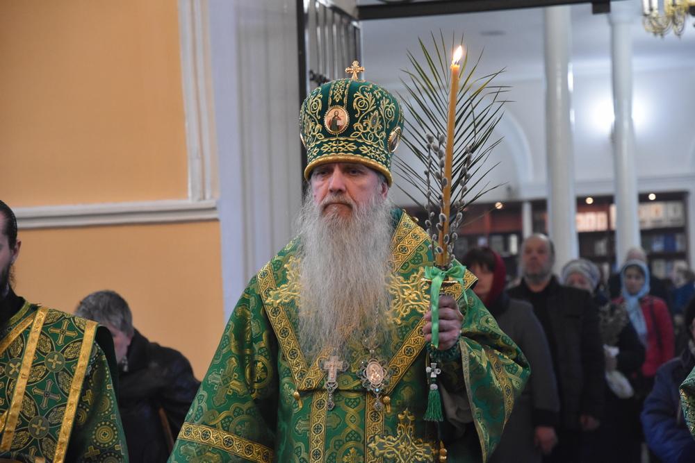 Преосвященнейший Мефодий возглавит праздничное богослужение в день Входа Господня в Иерусалим