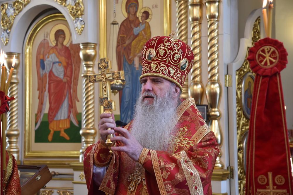 Литургия в день святого Георгия Победоносца (репортаж)