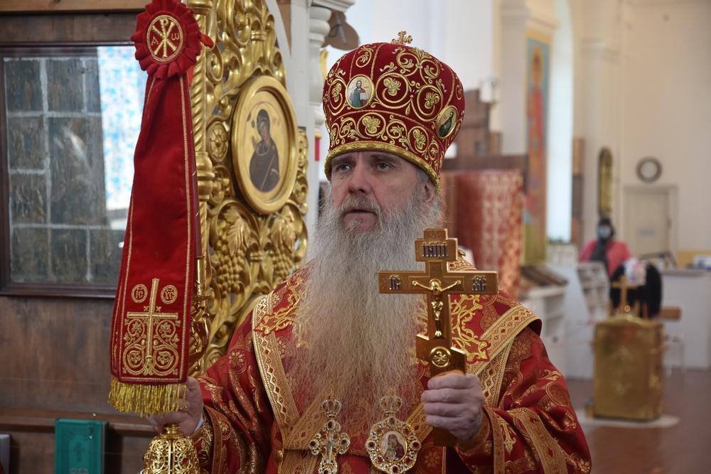 Литургию с таинством диаконской хиротонии совершил епископ Мефодий