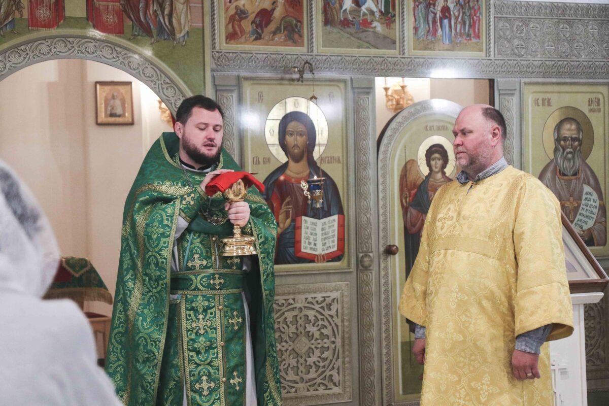 В крестильном храме — с малым престолом отметили престольный праздник