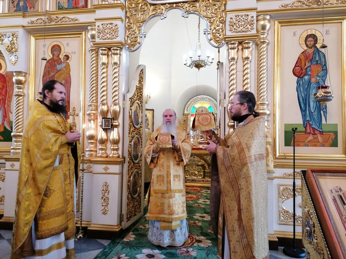 Владыка Мефодий совершил Литургию в день памяти  Свт. Иоанна Милостиваго, патриарха Александрийского