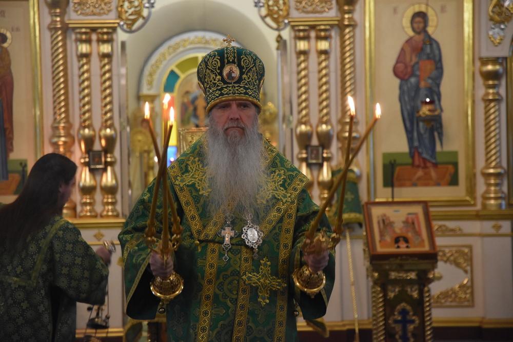 Владыка Мефодий совершил Литургию в день памяти преподобного Паисия Величковского