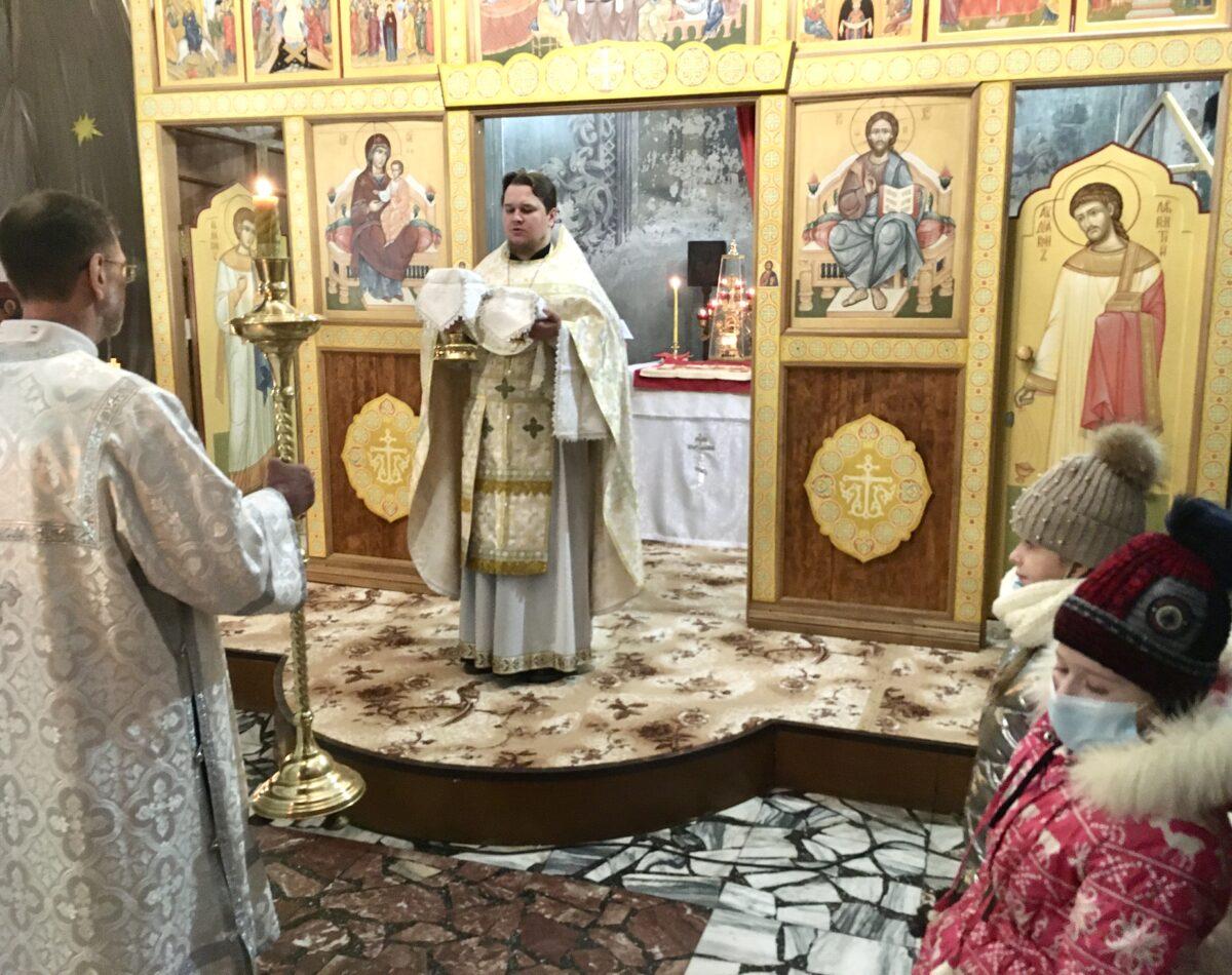 Рождество в Покровском кафедральном соборе Камышлова