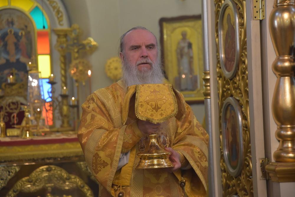 В неделю перед Богоявлением епископ Мефодий совершил Литургию