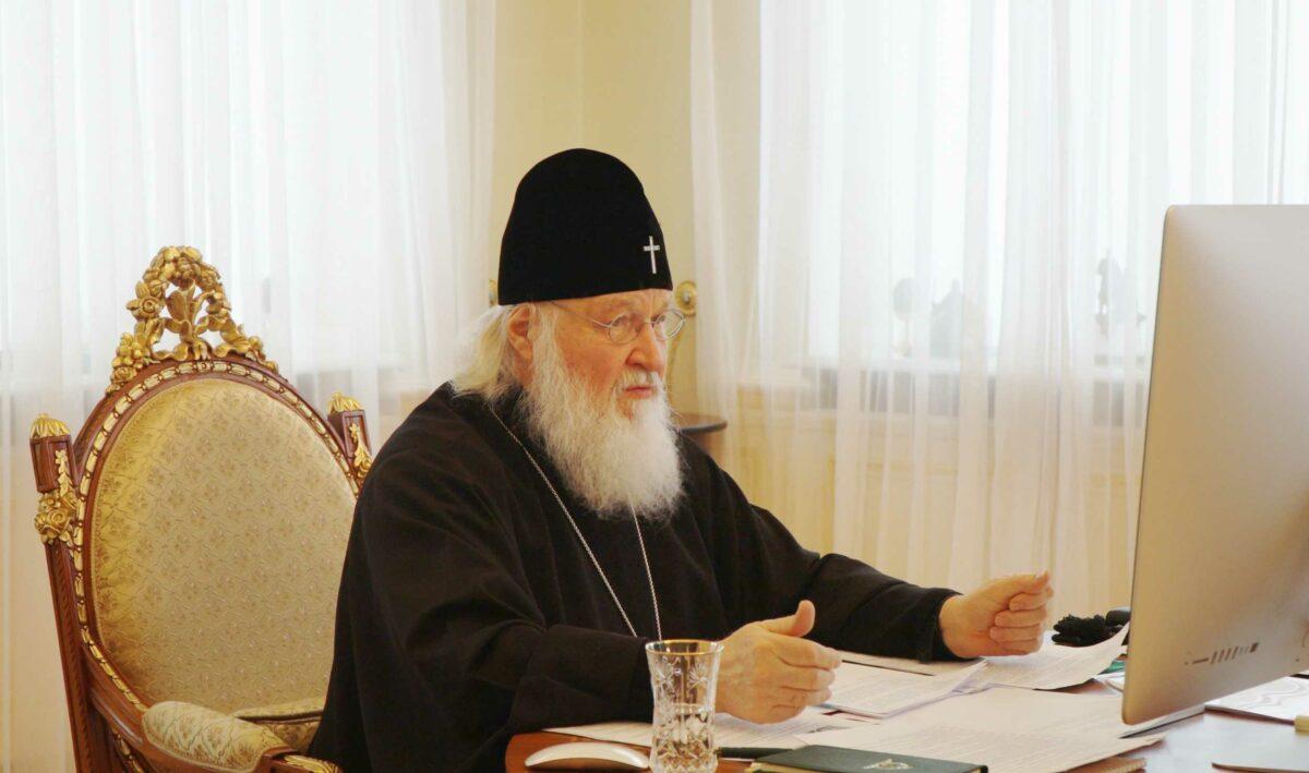 Под председательством Святейшего Патриарха Кирилла впервые в дистанционном формате состоялось заседание Высшего Церковного Совета