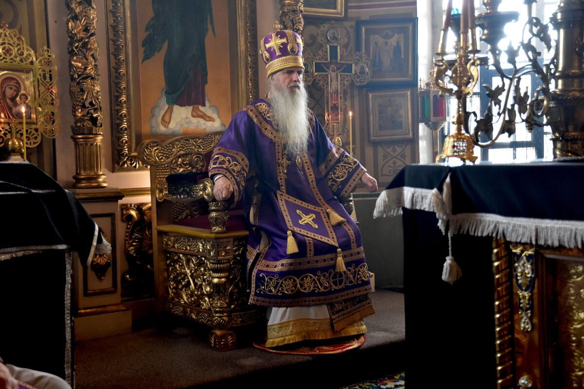 Литургию в Покровском храме с. Волково возглавил епископ Мефодий