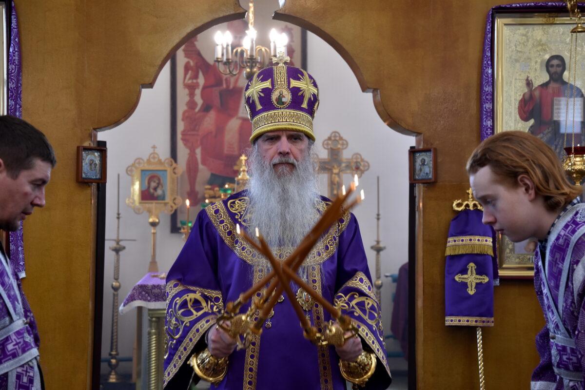 Литургию в храме 40 Севастийских мучеников г. Камышлова совершил епископ Мефодий