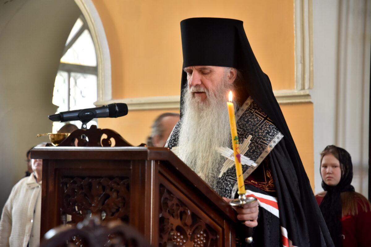 Епископ Мефодий возглавил утреню со чтением Великого покаянного канона преподобного Андрея Критского
