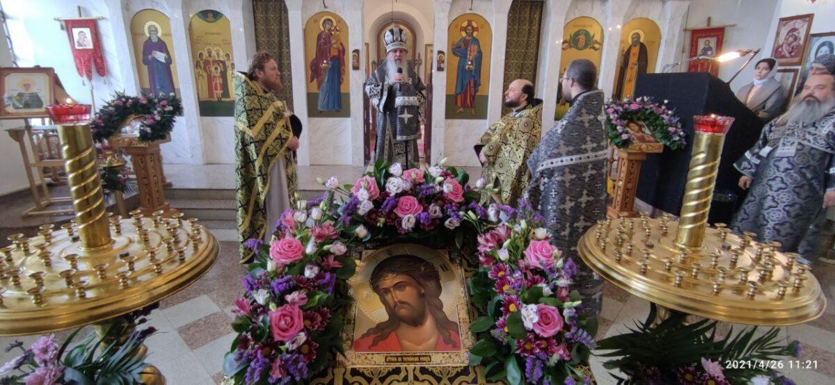 Епископ Мефодий возглавил Литургию Преждеосвященных Даров в Великий Понедельник