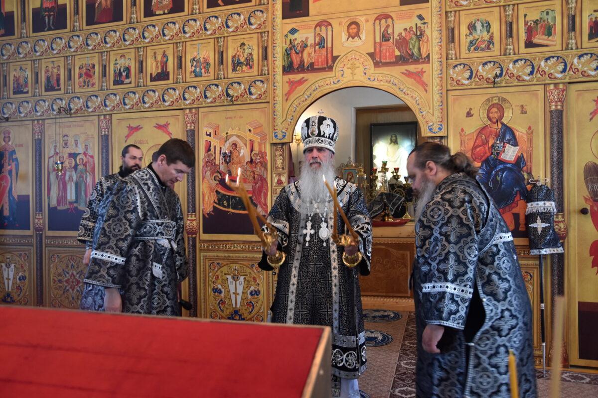 В Великий Вторник состоялась архиерейская Литургия Преждеосвященных Даров в Успенском храме пос. Белоярский