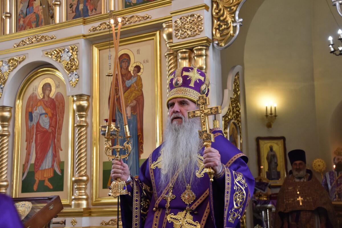 Епископ Мефодий совершил Литургию в Великий Четверток