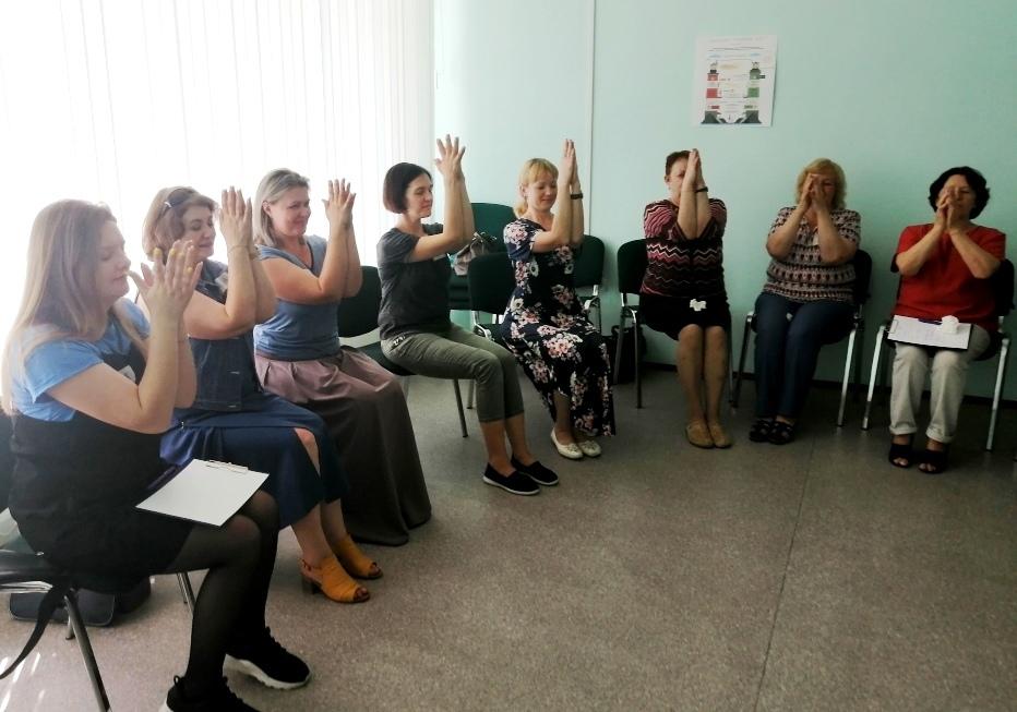 Мастер-класс с педагогами проекта на тему «Способы снятия эмоционального напряжения и расслабления»