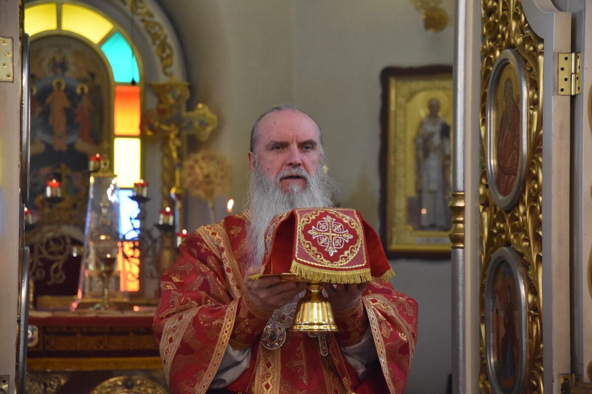 В неделю о самаряныне епископ Мефодий совершил Литургию