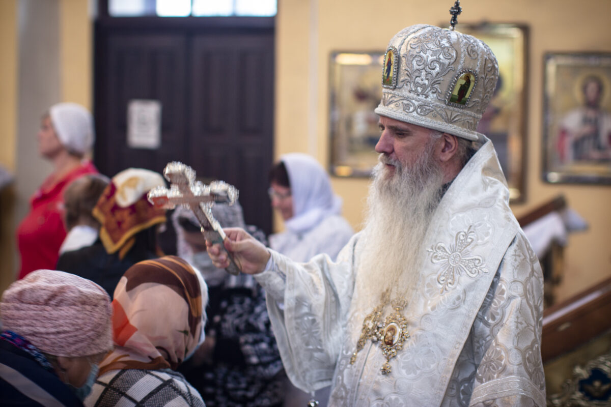 В день Вознесения Господня Преосвященнейший Мефодий совершил Литургию