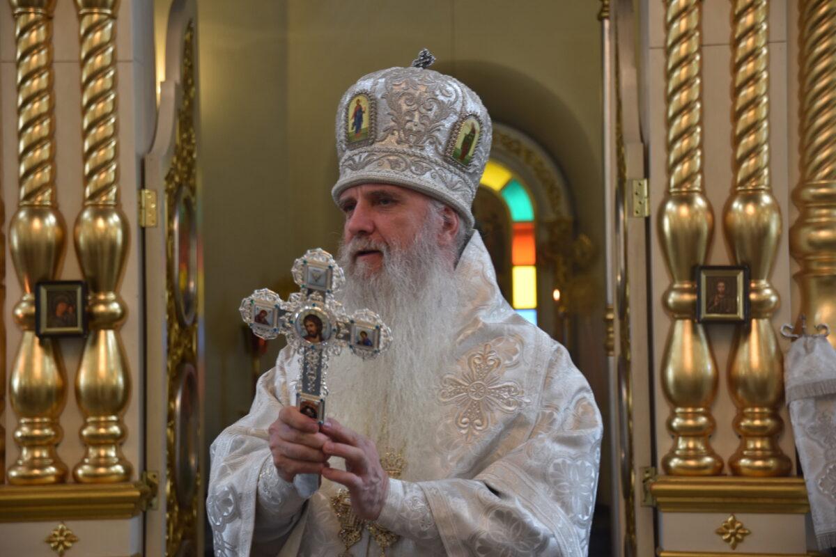 Преосвященнейший Владыка Мефодий совершил Литургию в день своего тезоименитства
