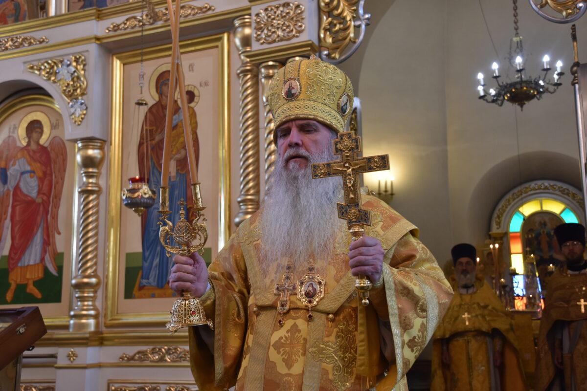 В день обретения мощей прп. Серафима Саровского владыка Мефодий совершил Литургию