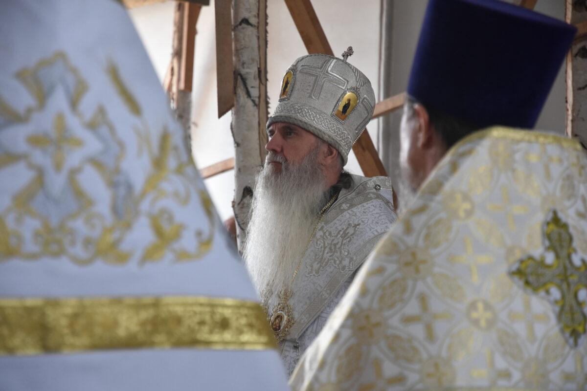 Правящий архиерей Каменской епархии возглавил Литургию в Свято-Покровском соборе г. Камышлова