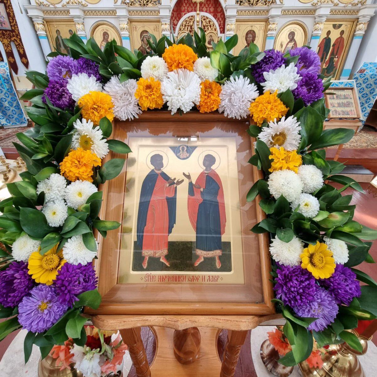 Престольный праздник  храма во имя свв. мчч. Флора и Лавра