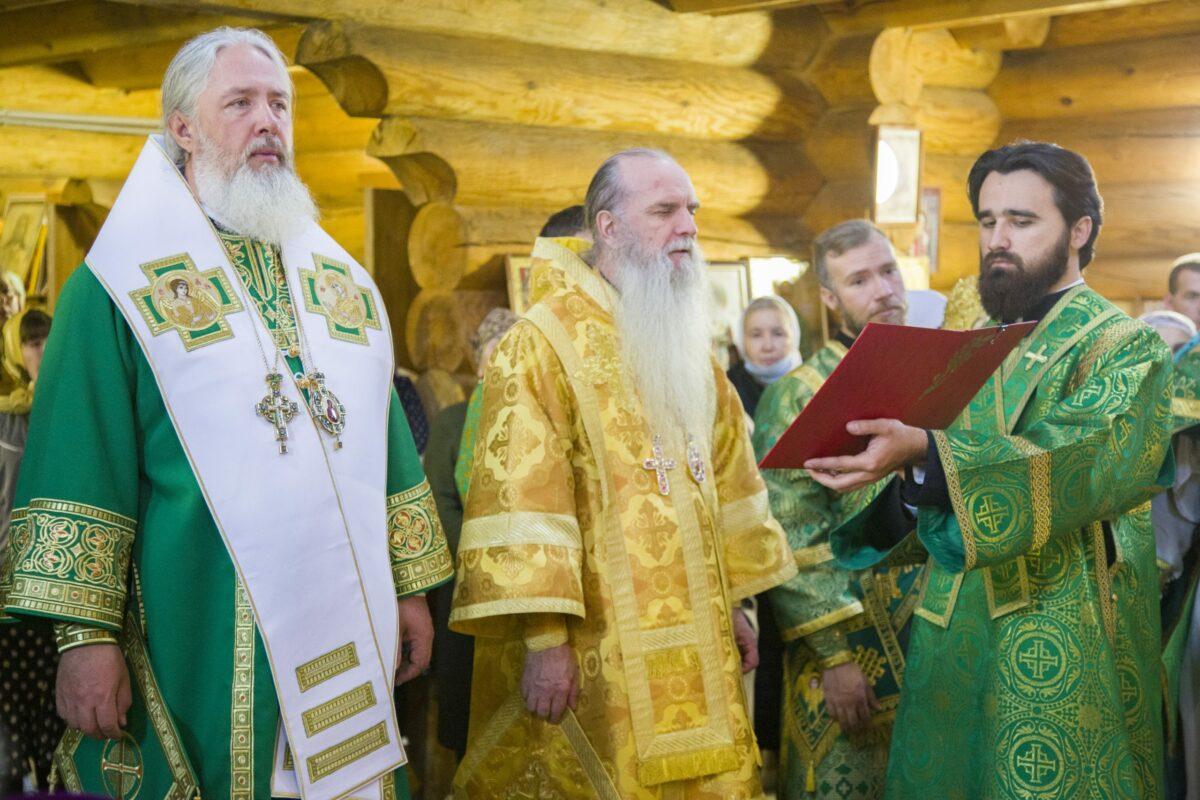 Архиерейское богослужение в храме во имя преподобного Сергия Радонежского